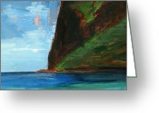 Tropical Beach Painting Greeting Cards - RCNpaintings.com Greeting Card by Chris N Rohrbach