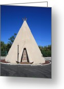 Foothill Greeting Cards - Route 66 - Wigwam Motel Greeting Card by Frank Romeo
