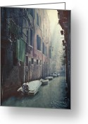 Washing Greeting Cards - Venezia Greeting Card by Joana Kruse
