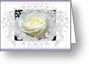 Warm Looking Flower Greeting Cards - Wedding Rose Collection  Greeting Card by Debra     Vatalaro