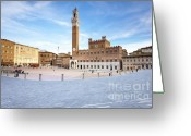 Hall Greeting Cards - Siena Greeting Card by Andre Goncalves