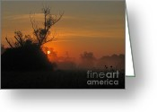 _states Greeting Cards - Sunset Greeting Card by Odon Czintos