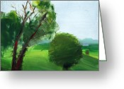 Mount Lebanon Greeting Cards - RCNpaintings.com Greeting Card by Chris N Rohrbach