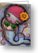 Eyes.fantasy Greeting Cards - 28 Greeting Card by  Abril Andrade Griffith