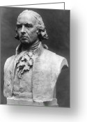 Ceramic Sculpture Greeting Cards - James Madison (1751-1836) Greeting Card by Granger