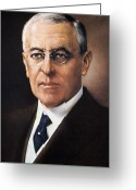 Democratic Party Greeting Cards - Woodrow Wilson (1856-1924) Greeting Card by Granger
