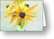 Black Eyed Susans Greeting Cards - RCNpaintings.com Greeting Card by Chris N Rohrbach
