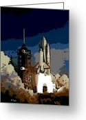Ill-fated Greeting Cards - 28th Mission Takeoff Greeting Card by George Pedro