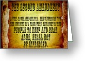 Civil Rights Mixed Media Greeting Cards - 2nd Amendment Greeting Card by Angelina Vick