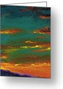 Desert Landscapes Greeting Cards - 2nd In A Triptych Greeting Card by Frances Marino