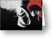 The Boss Painting Greeting Cards - - The Godfather - Greeting Card by Luis Ludzska