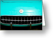 Street Rod Photo Greeting Cards - 1956 Chevy Corvette Greeting Card by David Patterson