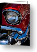 Car Ornaments Greeting Cards - 1957 Chevy Bel Air Custom Hot Rod Greeting Card by David Patterson