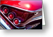Car Ornaments Greeting Cards - 1958 Chevy Impala Greeting Card by David Patterson