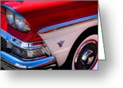 Mascots Greeting Cards - 1958 Ford Fairlane Skyliner Convertible Greeting Card by David Patterson