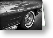 1964 Corvette Greeting Cards - 1962 Chevrolet Corvette Greeting Card by Gordon Dean II