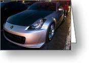 Lightpaint Greeting Cards - 350z Greeting Card by Bryan  Howland Photography