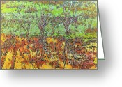 Fall Photographs Painting Greeting Cards - Abstract artwork Greeting Card by Odon Czintos