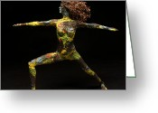 Nudes Mixed Media Greeting Cards - Alight a sculpture by Adam Long Greeting Card by Adam Long