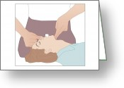To Kiss Greeting Cards - Artificial Respiration, Artwork Greeting Card by Peter Gardiner