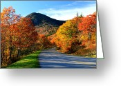 Autumn Roads Greeting Cards - Autumn Road Greeting Card by Gary Bydlo