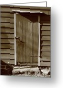 Americana Greeting Cards - Barn Door Greeting Card by Frank Romeo