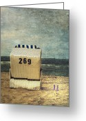 Boot Greeting Cards - Beach Chair Greeting Card by Joana Kruse