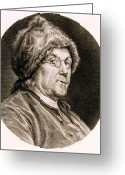 Second Greeting Cards - Benjamin Franklin, American Polymath Greeting Card by Science Source