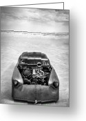 Motorcycle Photo Greeting Cards - Bonneville Salt Flats Speed Week 2012 Greeting Card by Holly Martin