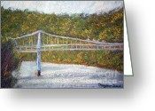 West Pastels Greeting Cards - Bridge to West Virginia Greeting Card by Dayna Jones