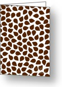 Decorative Floral Drawings Greeting Cards - Brown Abstract Greeting Card by Frank Tschakert