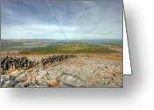 Kinvarra Greeting Cards - Burren view  Greeting Card by John Quinn