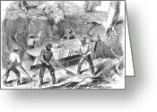 Tuolumne Greeting Cards - California Gold Rush, 1860 Greeting Card by Granger