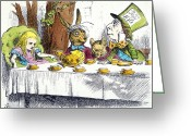 Mad Hatter Photo Greeting Cards - Carroll: Alice, 1865 Greeting Card by Granger