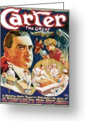 Magic Tricks Greeting Cards - Carter the Great Greeting Card by Unknown