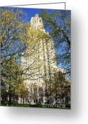 Pittsburgh Greeting Cards - Cathedral of Learning Greeting Card by Thomas R Fletcher