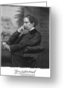 Autograph Greeting Cards - Charles Dickens (1812-1870) Greeting Card by Granger