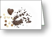 Nut Chocolate Greeting Cards - Chocolate heart Greeting Card by Joana Kruse