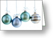 Sparkling Greeting Cards - Christmas ornaments Greeting Card by Elena Elisseeva
