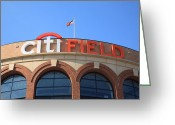 Baseball Framed Prints Greeting Cards - Citi Field - New York Mets Greeting Card by Frank Romeo