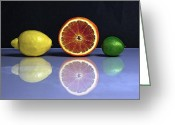 Citrus Fruits Greeting Cards - Citrus Fruits Greeting Card by Joana Kruse