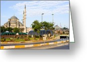 New District Istanbul Greeting Cards - City of Istanbul Greeting Card by Artur Bogacki