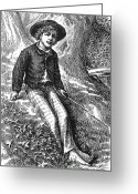 Tom Boy Greeting Cards - Clemens: Tom Sawyer Greeting Card by Granger