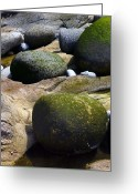 Cape Cornwall Greeting Cards - Coastal Rocks Greeting Card by Dr Keith Wheeler