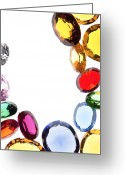 Romance Jewelry Greeting Cards - Colorful Gems Greeting Card by Setsiri Silapasuwanchai