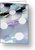 Compact Disks Greeting Cards - Compact Discs Greeting Card by Tek Image