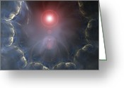 Cosmogony Greeting Cards - Creation, Conceptual Artwork Greeting Card by Laguna Design