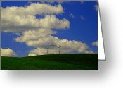 Hill Photographs Greeting Cards - 3 Cross Hill Greeting Card by Melissa Petrey