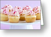 Snack Greeting Cards - Cupcakes Greeting Card by Elena Elisseeva