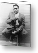 Player Photo Greeting Cards - Dizzy Gillespie (1917-1993) Greeting Card by Granger